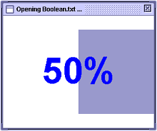 Progress window bar at 50% complete